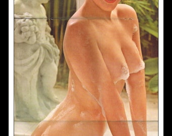 "Mature Playboy January 1963 : Playmate Centerfold Judi Monterey 3 Page Spread Photo Wall Art Decor 11"" x 23"""