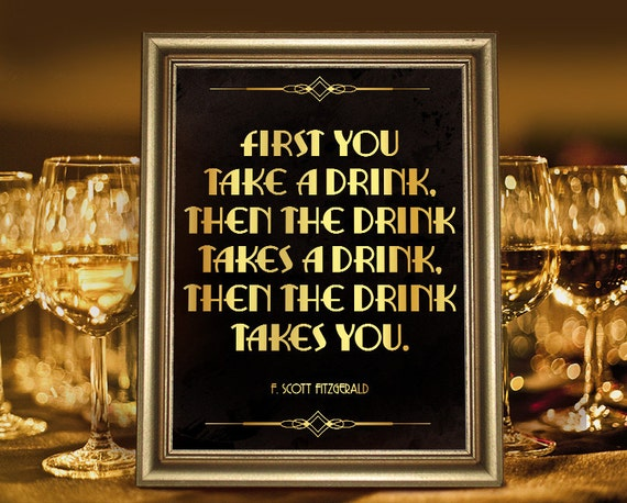 Great Gatsby Party Decoration F Scott Fitzgerald Quote