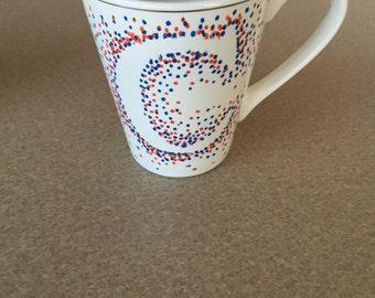 Personalized Dotted Mugs