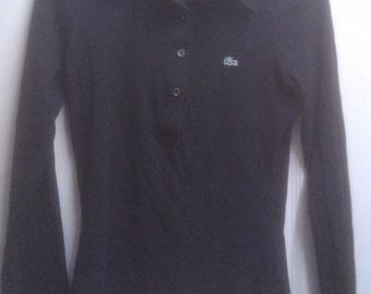 Lacoste / Izod Long Sleeve black long sleeve polo top Size 36 / XS