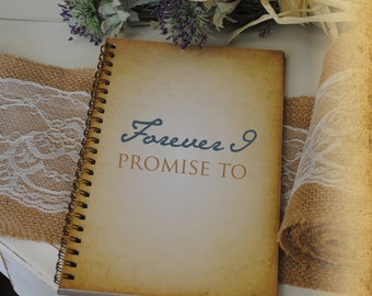 Journal Romance Love - Forever I Promise To, Custom Personalized Journals Vintage Style Book