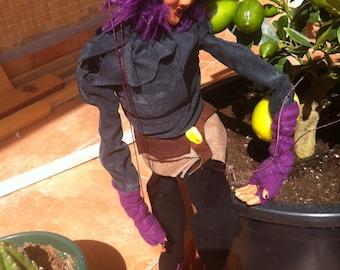 Purple Elf puppet or puppet