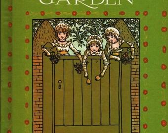 Marigold Garden - Kate Greenaway - Edmund Evans Limited, wood block designs - Vintage Kids Book