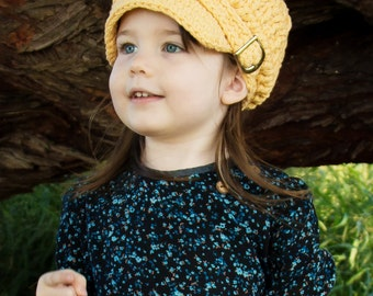 Toddler Newsboy Hat 2T to 4T Toddler Girl Newsboy Cap Toddler Boy Newsboy Toddler Hat Toddler Girl Hat Toddler Boy Hat Country Yellow Hat