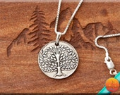 Handcrafted Fine Silver Tree of Life Necklace on Sterling Silver Chain