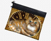 Cheshire Cat Steampunk bag, art supply pouch, Jasmine Becket-Griffith wristlet, travel bag,