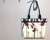 Amy Brown Shadow Circus Burlesque Fairy tote bag, book tote, large purse, canvas tote, shoulder bag