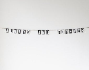 always and forever | vintage modern bunting | 2""