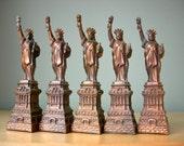 Vintage Statue of Liberty Set, New York City Souvenir Buildings, Instant Collection, Loft Living