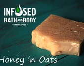 Oatmeal & Honey Soap, Unscented Soap, Natural Soap Bar - Cold Process Soap