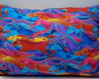 Lavender Pillow or Balsam Pillow -  Horse Pillow - Buckwheat Aromatherapy Decorative Throw - Rainbow Travel Neck Roll