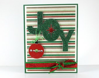 3D Christmas card, christmas ornament, merry christmas card, happy holidays, handcrafted