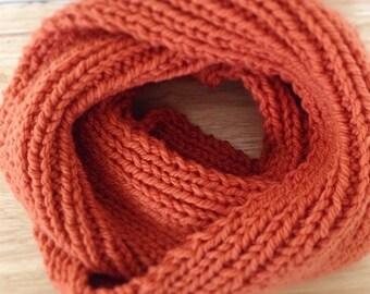 Cowl Infinity Knit Scarf-Pumpkin