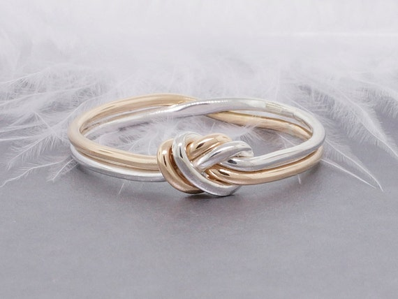 Love Knot Ring Gold And Silver Ring Promise Ring By