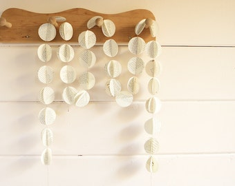 Book Paper Garland-Layered Circles