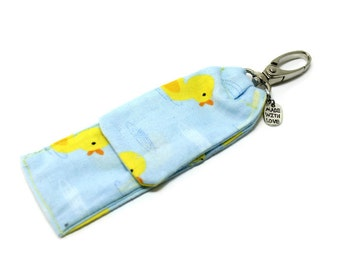 Rubber Duckies Lip Balm Cozy,  Flash Drive Holder, USB Key Holder, Lipstick Case, Portable Pocket