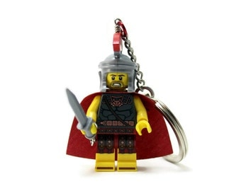 Roman Soldier Keychain - made from Series 11 LEGO (r) Minifigure, Roman Commander