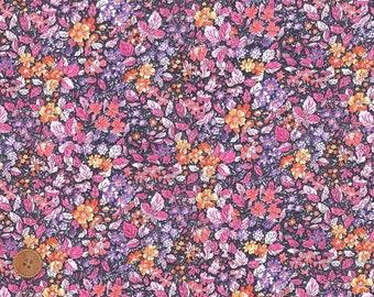 Liberty Tana Lawn Fabric, Liberty of London, Liberty Japan, Prince George, Cotton Print Scrap, Floral Design, Quilt, Patchwork, kt5048b