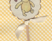 Winnie The Pooh Baby Shower Birthday Cupcake Toppers / Cake Slice Toppers / Cupcake Picks / Gender Neutral / Vintage Style - Set of 10