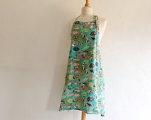 Vintage Tropical Fish Apron - Amazing and Colorful Underwater Kitchen Apron