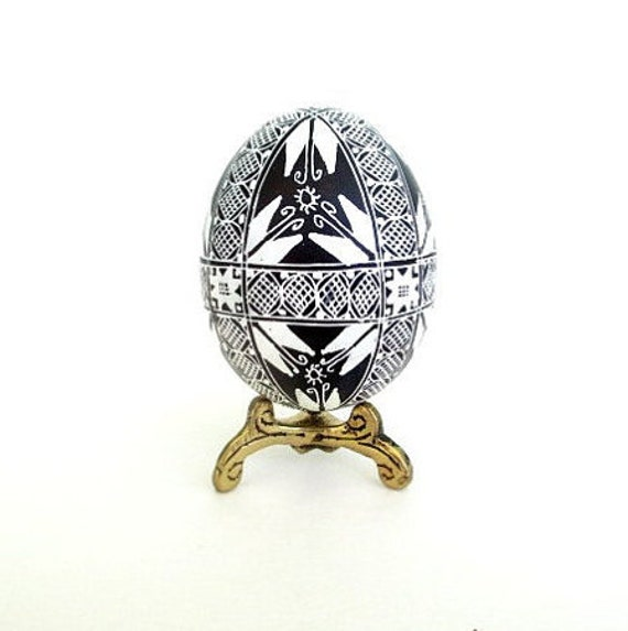 Black and White Pysanka unique gift for mom dad and siblings for Easter holidays something cute very affordable art eggs fertility amulets