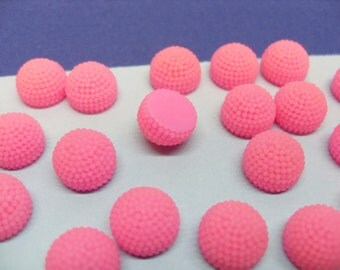 50x 10mm Pink Fruity Cabochons Berries or Bobbles or Pom Poms
