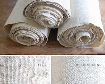 VINTAGE European Hemp Hand Towel - Nubby Grain Sack Texture - PLAIN WEAVE
