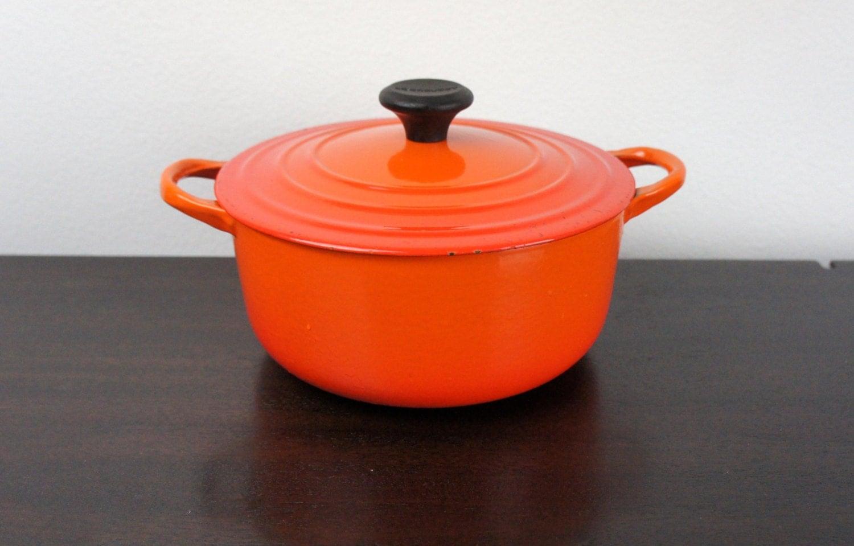 Vintage Le Creuset Medium 2.5 qt Dutch Oven Size C Flame