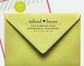 Samantha Custom Return Address Stamp (Wooden Handle OR Self-Inking), Wedding Invitation Stamp, Hostess Gift, Housewarming Gift