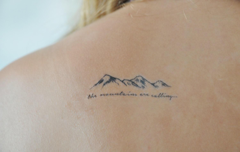 Mountains Temporary Tattoo Small