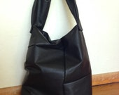 RESERVE For Esther, Black Leather Tote
