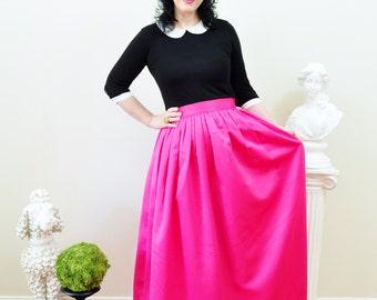 Pink Duchess Satin Custom made Ball Gown Skirt long full pleated and gathered Full Length Maxi skirt