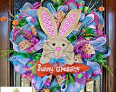 Bunny Crossing Easter Wreath