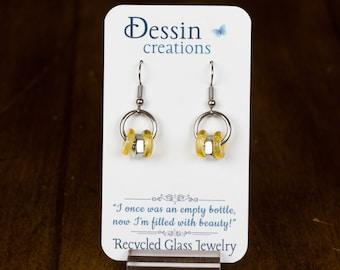 CUSTOM Earrings, Stainless Steel Post Modern, Industrial Earrings, Unique Gift, Dessin Creations
