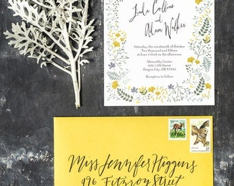 Spring Woodland Forest Wedding Invitation Printable