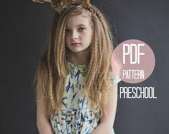 Dress Pattern for Girls Sewing Pattern Peter Pan Collar Dress Size 4T 5 6 Dress Pattern Vintage Dress Pattern PDF Easy Sewing Pattern Retro