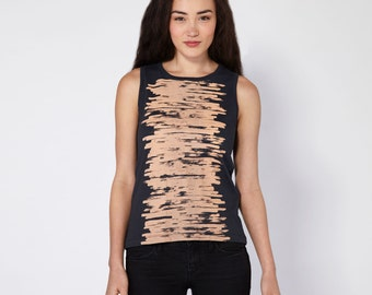 Brushstrokes Boyfriend Tee - Midnight