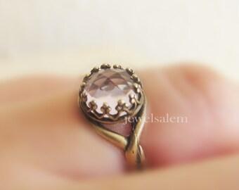 Pink Amethyst Ring Light Blush Pink Birthstone Gift Blush Ring Modern Jewelry Classy Minimal Small Stacking Ring February Birth Stone