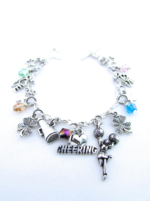 cheerleading charm bracelet cheer bracelet cheer gift i