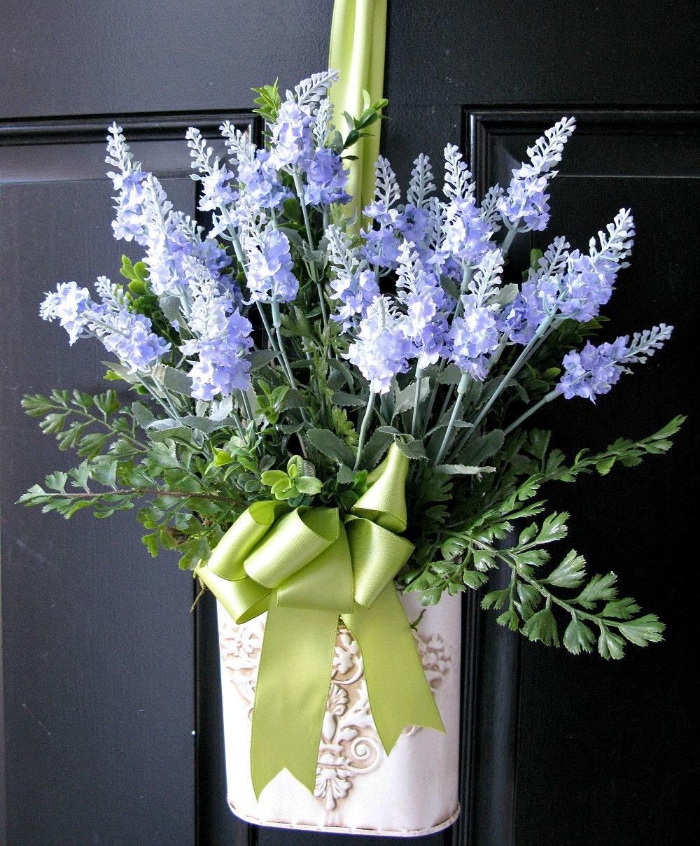 English lavender bouquet wall decor ferns moss garden wedding for English garden wall mural