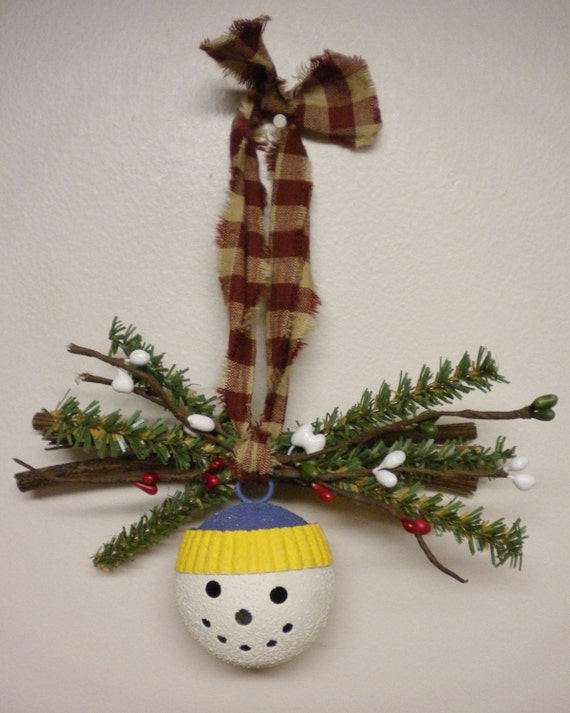 Snowman Bell Ornament, Snowman Christmas Tree Decorations, Jingle Bells