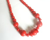 80's FUNKY BAUBLE NECKLACE - Large beads / Geometric / Pop Art / 80's does 50's / Pin Up / Kawaii