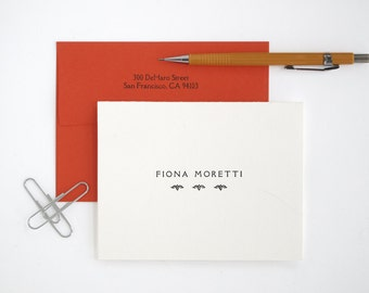 Folded Letterpress Stationery - Classic Style - Custom Printed - Rialto