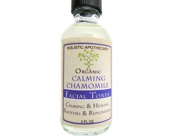 Calming Chamomile Soothing Facial Toner Organic with Witch Hazel, Aloe Vera & Calendula