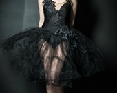 Adagio in Lace,BLACK, Ballet,dress,gown,gold,beaded,TULLE,High fashion,Dance,dress