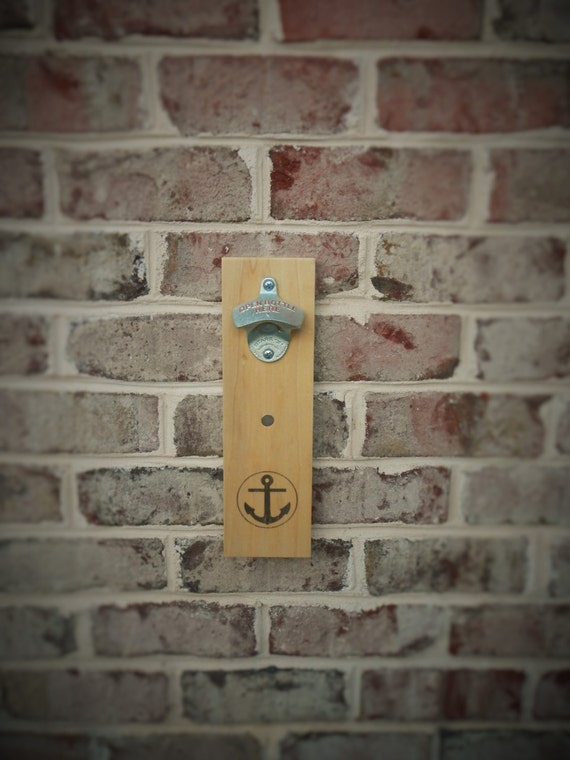 Anchor Bottle Opener With Magnet Cap Catcher Wall Mounted