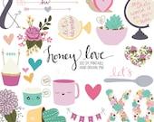 Valentine's Day Love Digital Clip Art