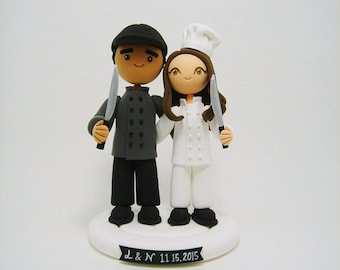 chef wedding cake toppers custom cake toppers for wedding amp birthday by clayphory on etsy 12633