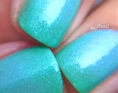 Caribbean Breeze- -Color Changing Thermal Nail Polish:  Custom-Blended Indie Glitter Nail Polish / Lacquer