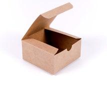 50 Kraft Gift Boxes 4x4x2